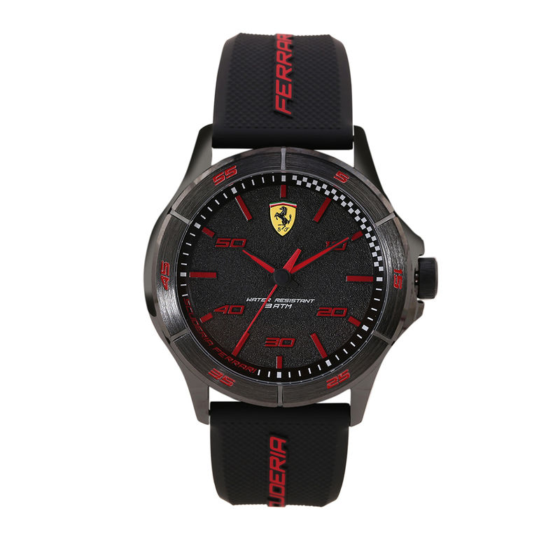 Scuderia Ferrari Sf Basics 0830814 Black Dial Analog Watch For Men