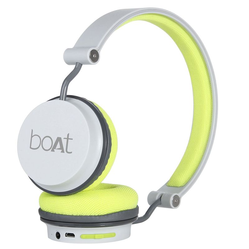boAt Rockerz 400 Wireless Headphone with Super Extra Bass  Up to 8H Playtime Grey/Green