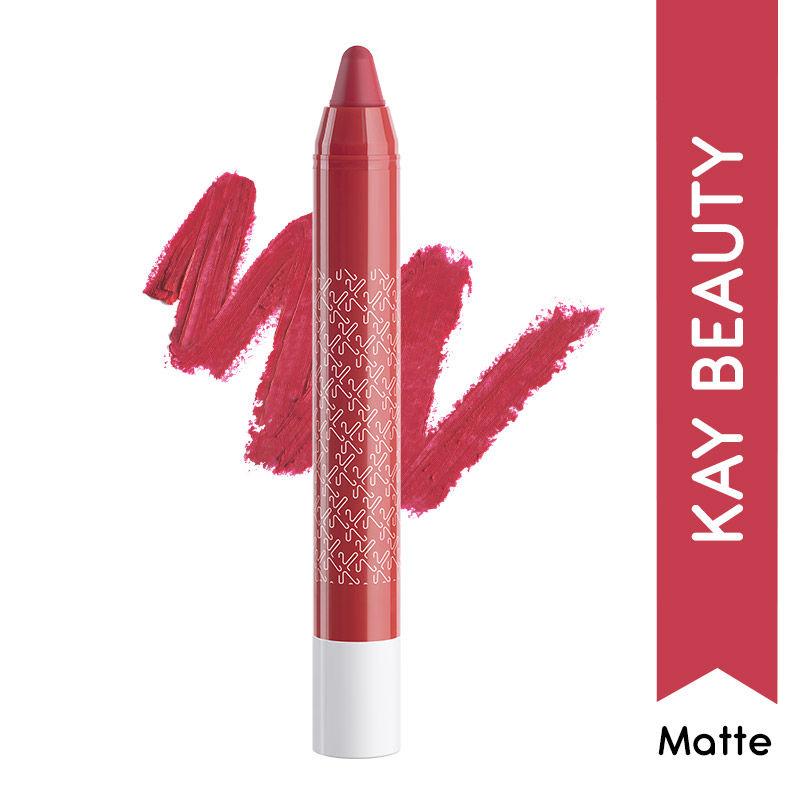 Kay Beauty Matteinee Matte Lip Crayon Lipstick -Rom Com