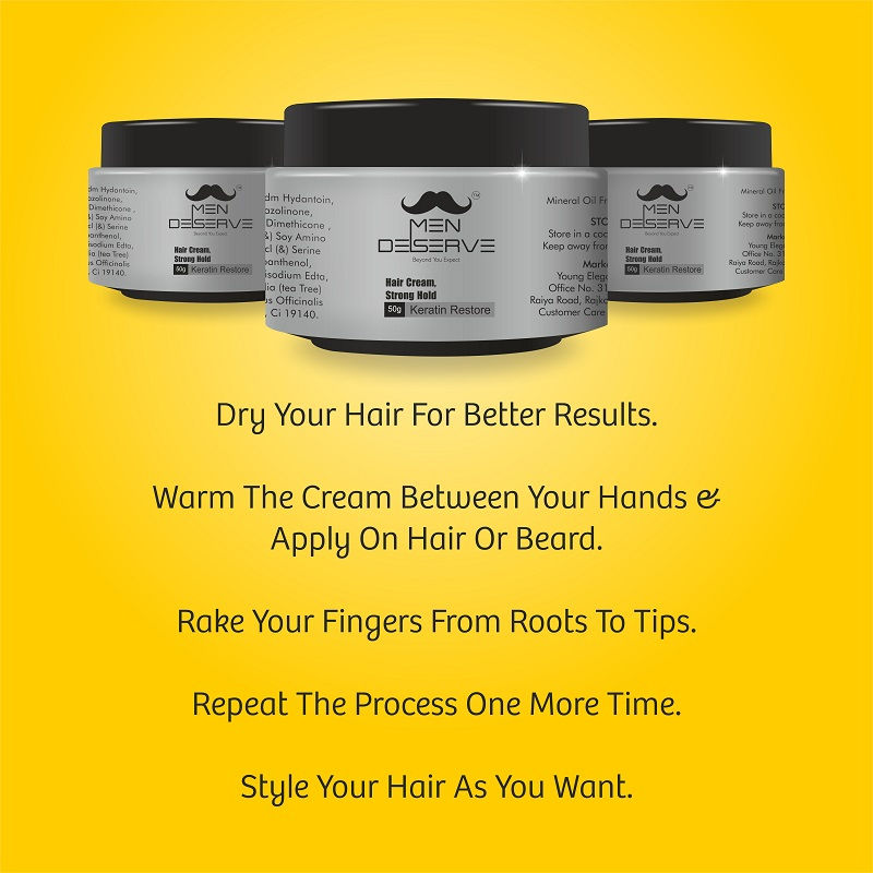 fc8340803f92f Buy MEN DESERVE Hair Styling Cream Strong Hold Keratin Restore at Nykaa.com
