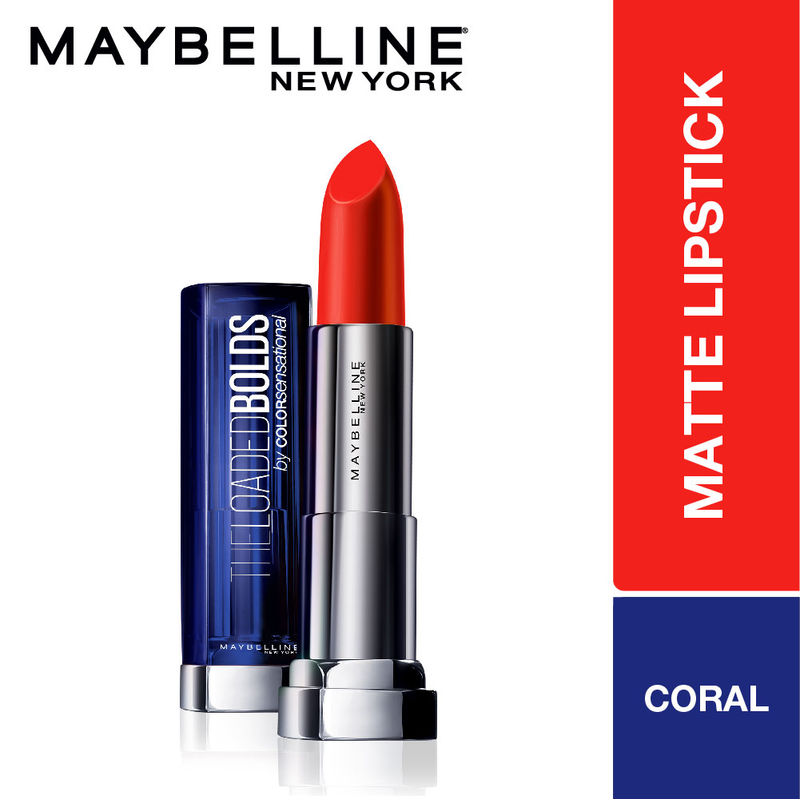 Maybelline New York Color Sensational The Loaded Bolds Lipstick - 08 Sunny  Coral