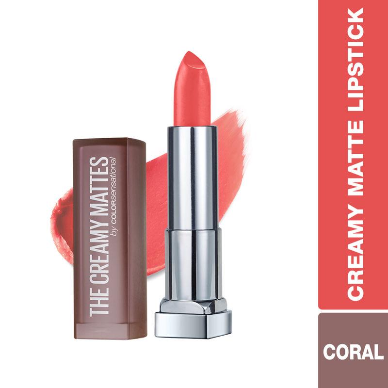 Maybelline New York Color Sensational Creamy Matte Lipstick - 635 Rock The Coral
