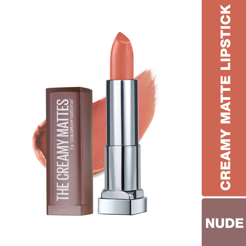Maybelline New York Color Sensational Creamy Matte Lipstick - 637 Barely Nude