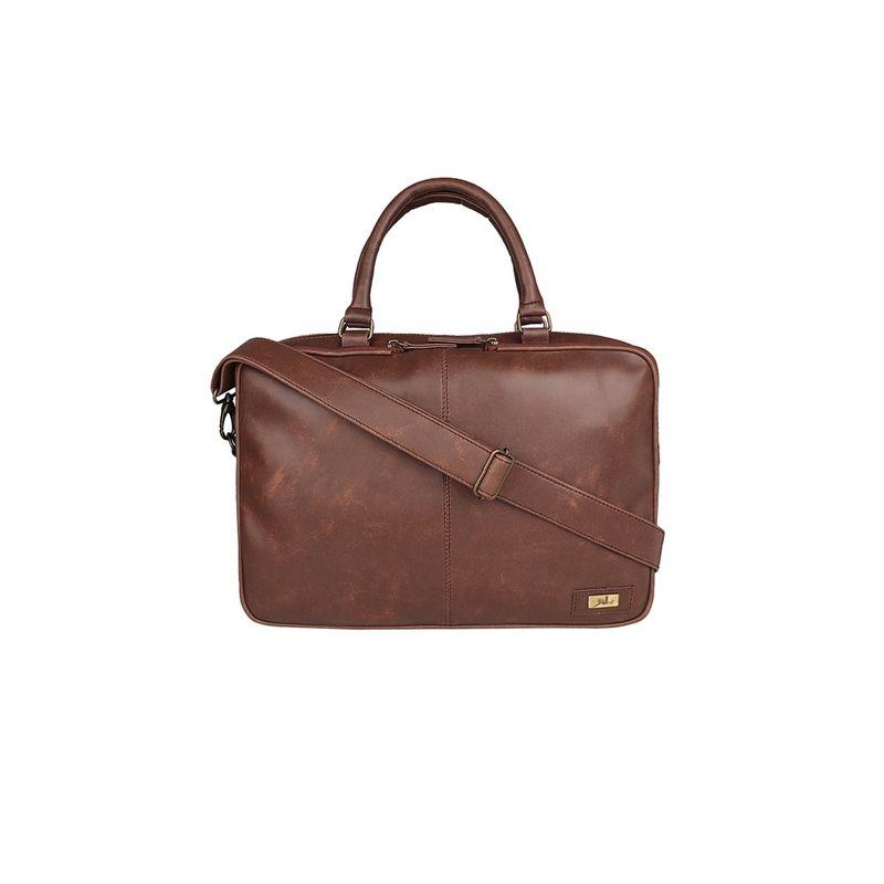 Yelloe 15.6 Inch 15.6 Laptop Messenger Bag Tan