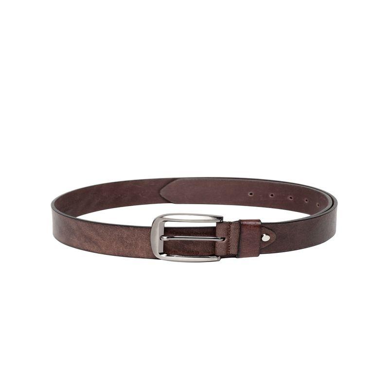 Teakwood Leathers Men Brown Solid Belt - 34