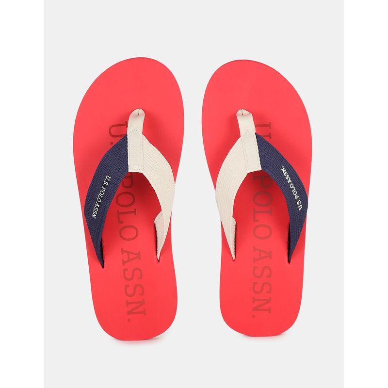 U.s. Polo Assn. Hernan Red Flip Flop - 6