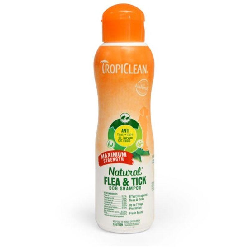 Tropiclean Natural Flea & Tick Shampoo Maximum Strength