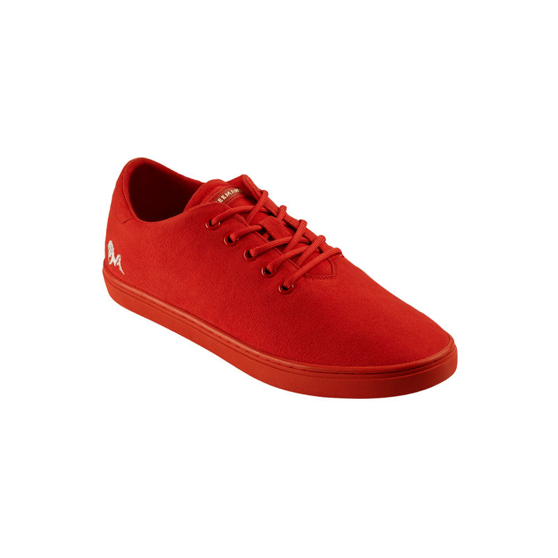 Neemans Cotton Classic Unisex Coral Red Sneakers - Uk 4