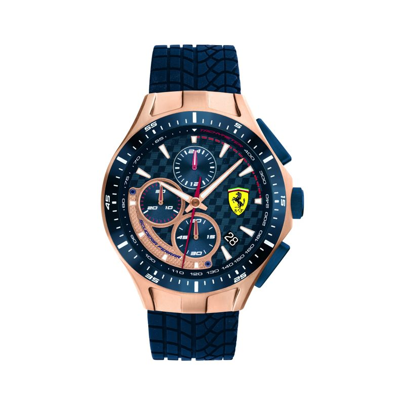 Scuderia Ferrari RACE DAY Analog Chronograph Blue Round Dial Men's Watch  0830699