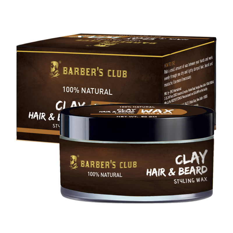 f7a7483c842 Buy Barber's Club Clay Hair & Beard Styling Wax - Strong Hold at Nykaa.com