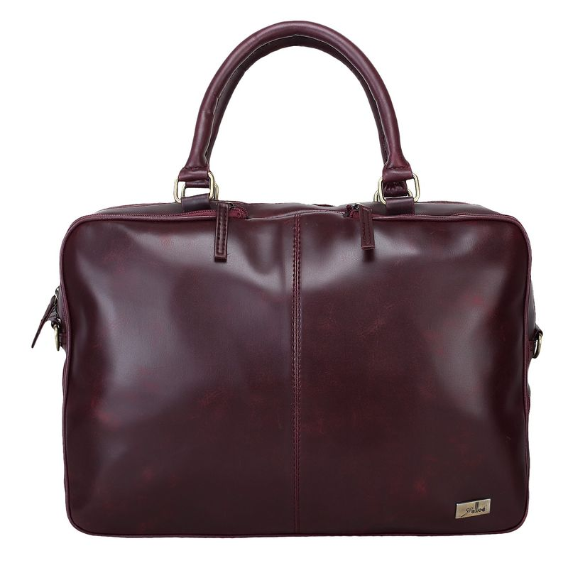 Yelloe 16 Inch Laptop Messenger Bag Maroon