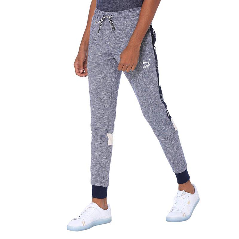 Puma Peacoat Heather Vk Track Pants - Blue (XL)
