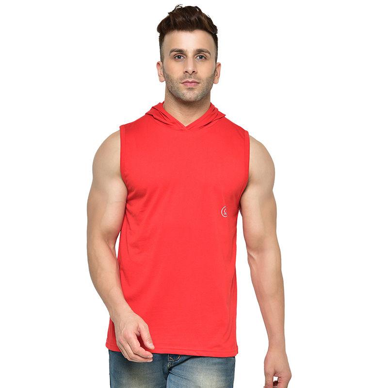 Chkokko Men Gym Tank Tops - Red (S)