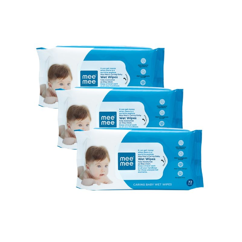 Mee Mee Caring Baby Wet Wipes 72s (Pack of 3) (Rs.90 off)