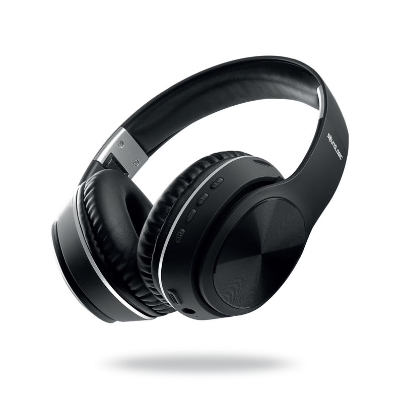 Soundlogic Hd Pro Bluetooth Headphone With Built In Fm Radio, Micro Sd Card Slot   6 Hours Playtime