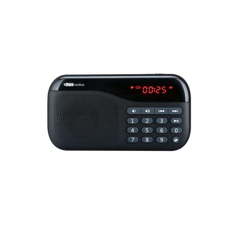 Portronics POR 141 Plugs Portable Speaker with FM   MicroSD Card Support  Black