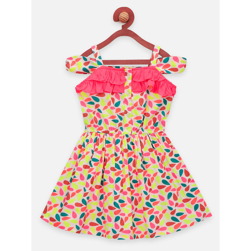 Lilpicks Droplet Strappy Dress - Yellow (3-4 Years)