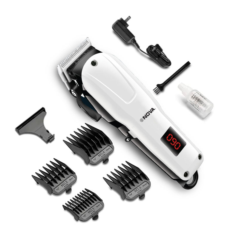 Nova Professional Rechargeable And Cordless NHT 1083 Hair Clipper Runtime: 120 Min Trimmer For Men