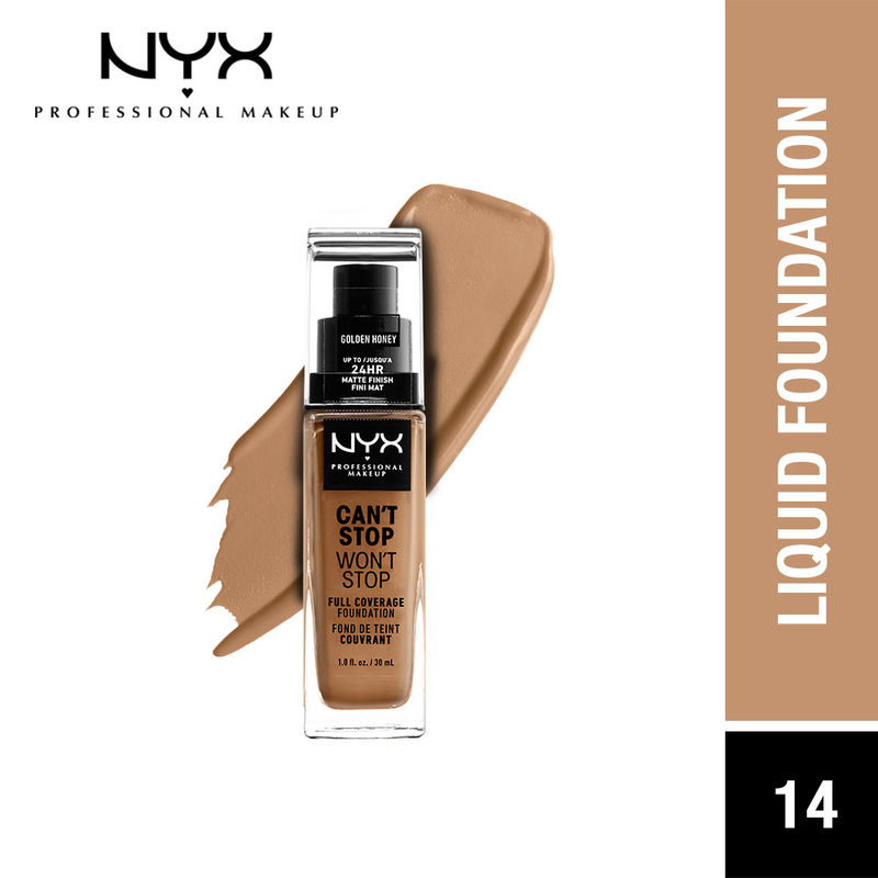 NYX Professional Makeup Can't Stop Won't Stop Full Coverage Foundation - Golden Honey