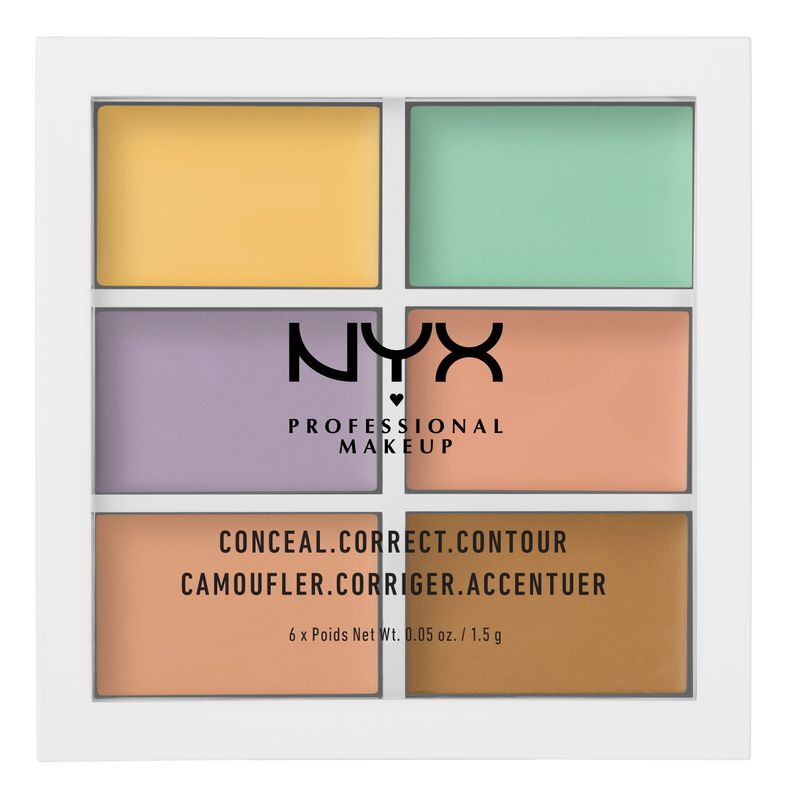 NYX Professional Makeup Conceal, Correct, Contour Palette - Color Correcting Concealer