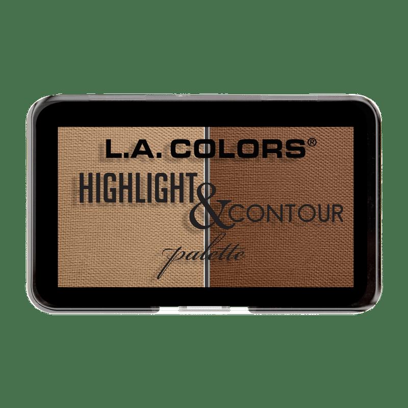 L.A. Colors Highlight & Contour Palette