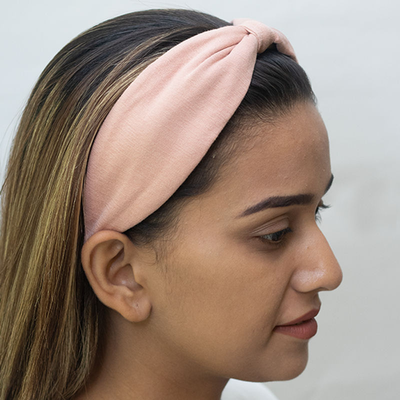 Elaa Betty Cooper In Textured Pink Jersey Headband
