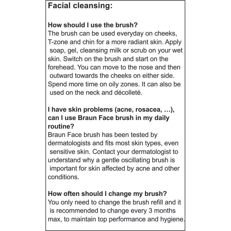 Braun Face 831 Beauty Edition - Facial Cleansing Brush + Mini Epilator