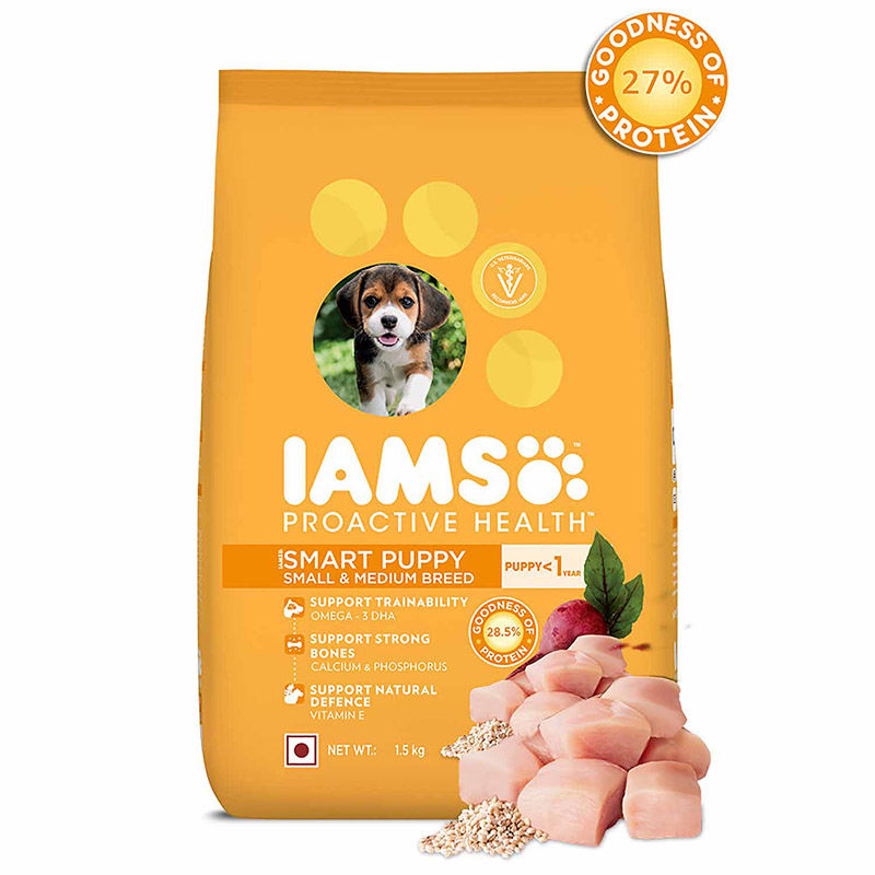 IAMS Proactive Health Smart Puppy Small & Medium Breed Dogs (less than 1 Years) Dry Dog Food