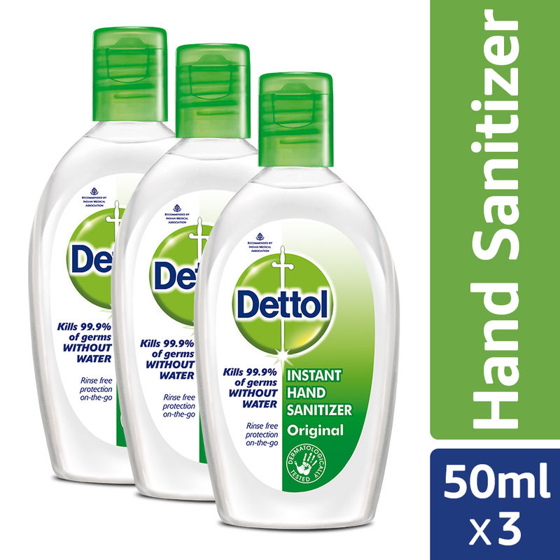 Dettol Original Instant Hand Sanitizer Pack Of 3 At Nykaa Com