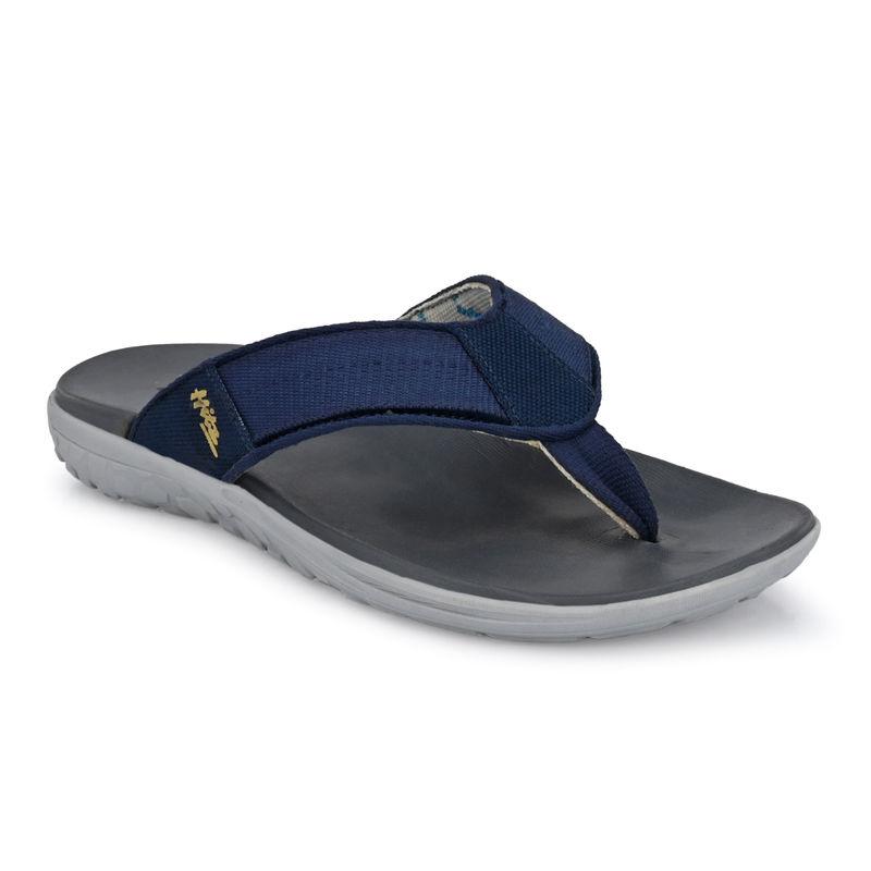 Hitz Blue Leather Slippers - Uk 6