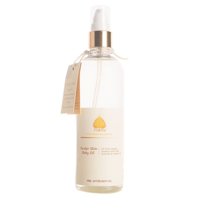 Prakrta Tender Skin Baby Oil   Virgin coconut oil with vitamin E and avocado extract