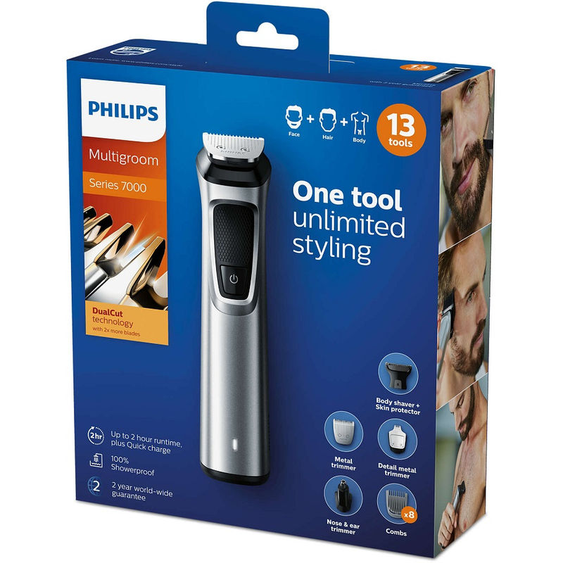 Philips 13 in 1 Multigroom Kit for Face, Hair and Body  MG7715/15