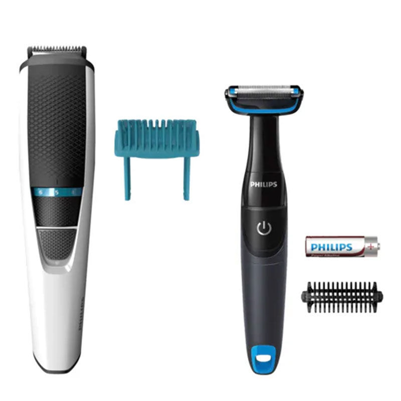 Philips Cordless Grooming Kit  Trimmer + Body Grooming   BT3203/85