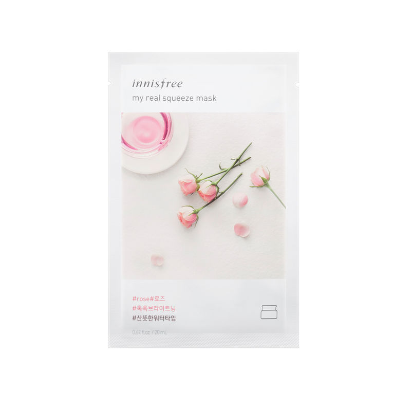 Innisfree My Real Squeeze Sheet Mask - Rose