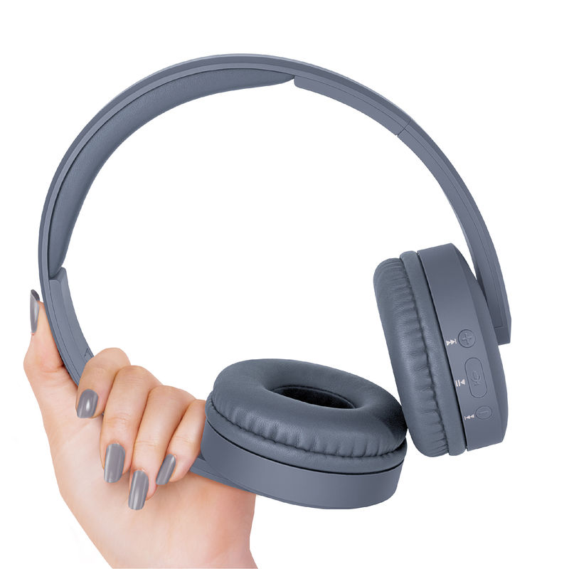 FINGERS Beauté Wireless Headset with built in Mic  Bluetooth, FM, Aux, MicroSD   Gun Grey