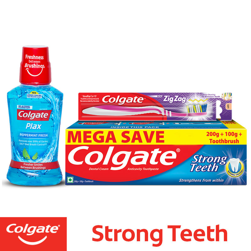 Colgate Dental Cream Anti-Cavity Toothpaste With Free Toothbrush (Mega Save  Rs 17)