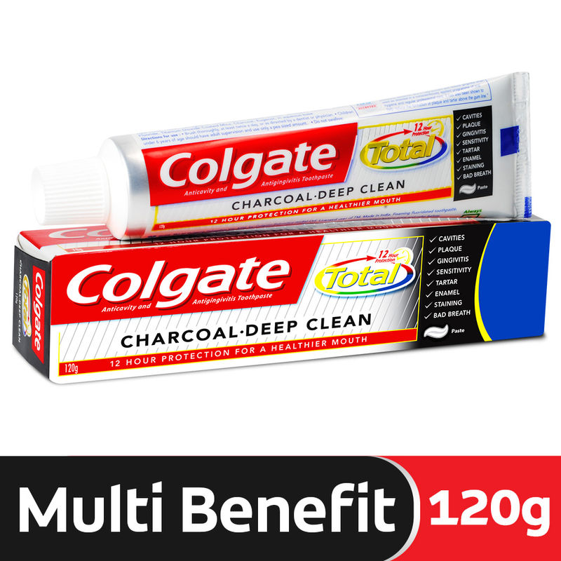 Colgate Total Charcoal Deep Clean Toothpaste Review | Nykaa