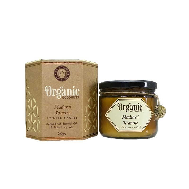 Song Of India Madurai Jasmine Organic Soy Wax Candles