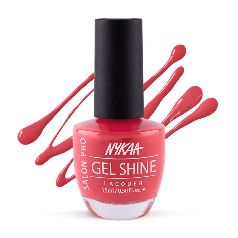 Nykaa Salon Shine Gel Nail Lacquer - Viva Mexicon 201 at Nykaa.com