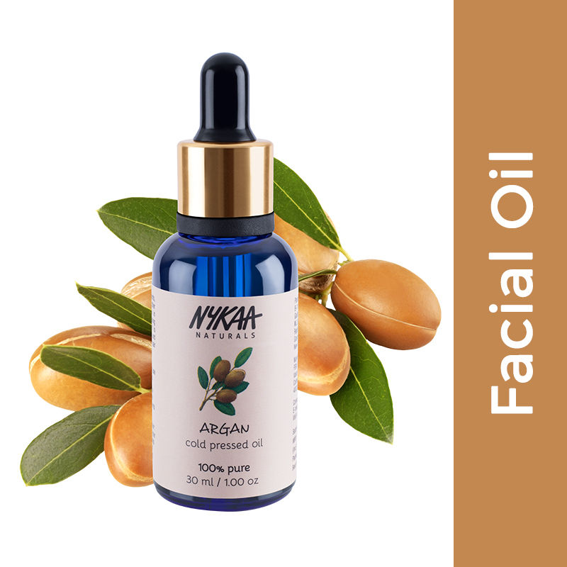 Nykaa Naturals 100% Pure Cold Pressed Argan Carrier Oil for Skin Hydration & Hair Growth