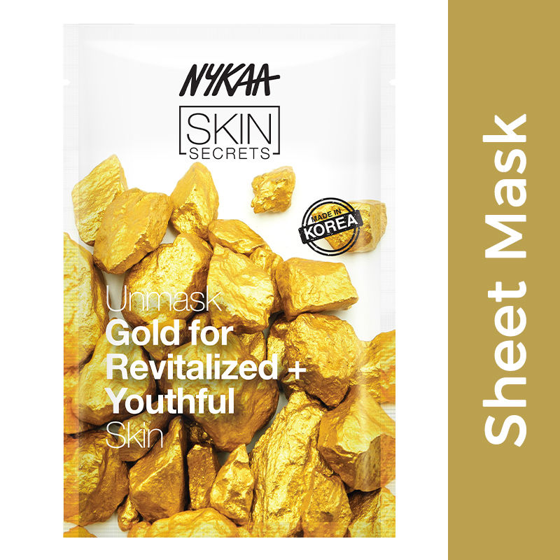Nykaa Skin Secrets Gold Sheet Mask For Revitalized & Youthful Skin
