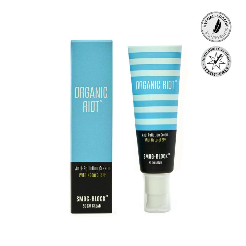 Organic Riot Smog Block - Anti Pollution Cream With Natural SPF