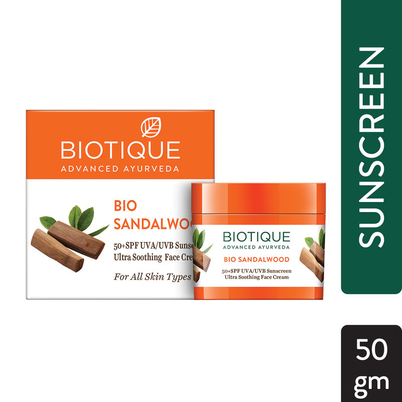 Картинки по запросу biotique bio sandalwood 50+ spf 50 GRAMM