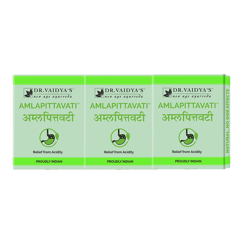 Dr  Vaidya's Amlapittavati Pills Relief From Acidity (Pack Of 3)(24Pills  each)