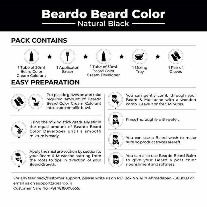 40d75c12835 Beardo Beard Color For Men - Natural Black