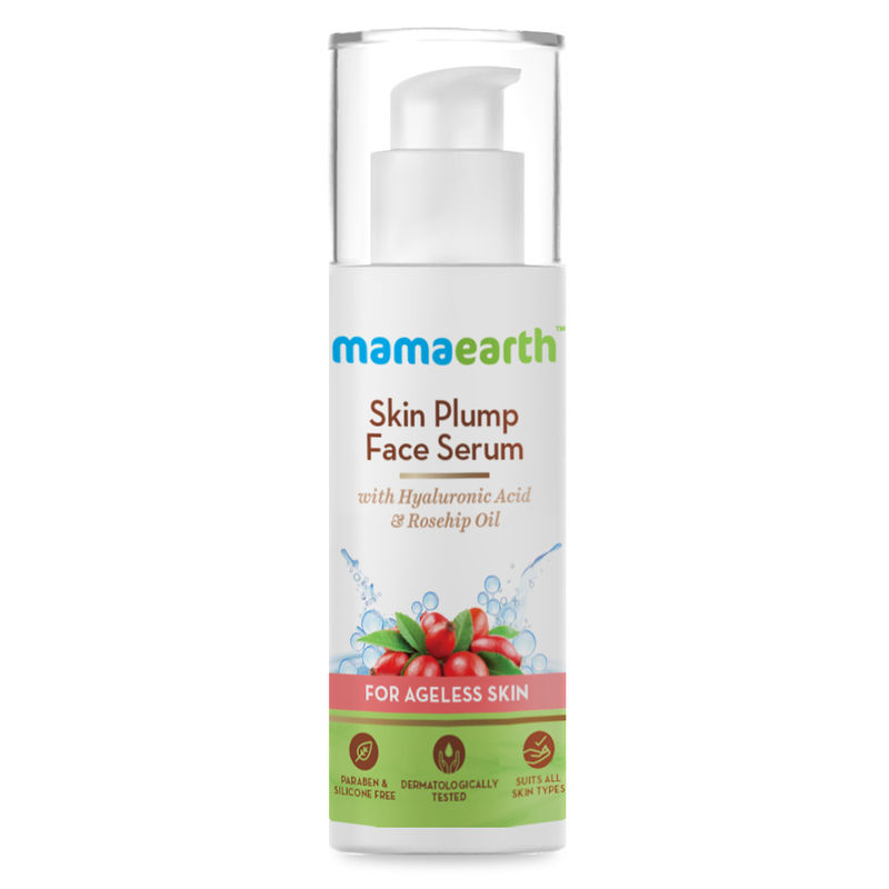 Mamaearth Skin Plump Face Serum With Hyaluronic Acid & Rosehip Oil