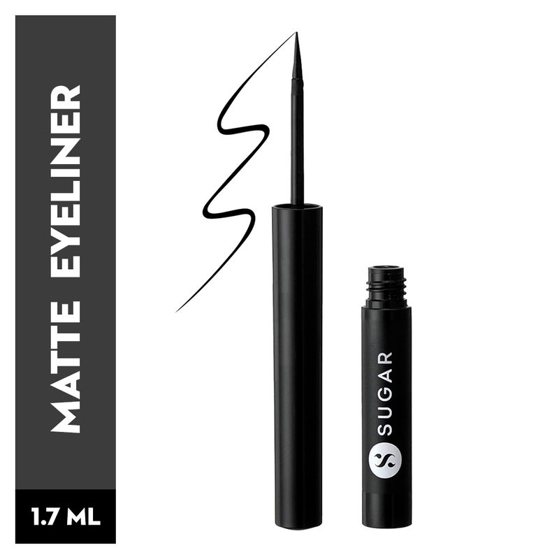 SUGAR Eye Warned You So! Double Matte Eyeliner - 01 Black Swan