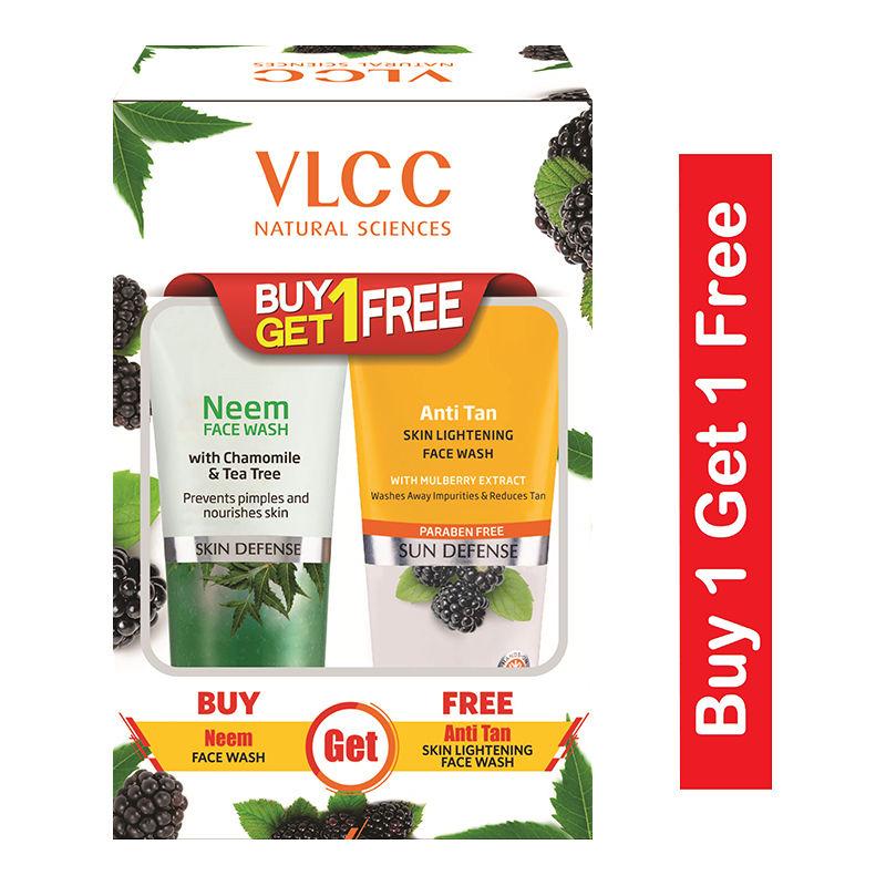 VLCC Neem Face Wash + Anti Tan Skin Lightening Face Wash Buy1 Get 1 Free