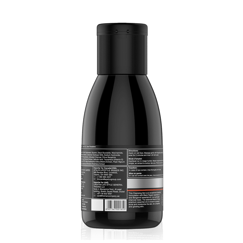 8077462d6c0 Buy The Man Company Charcoal Cleansing Gel With Bergamot   Black Pepper at  Nykaa.com