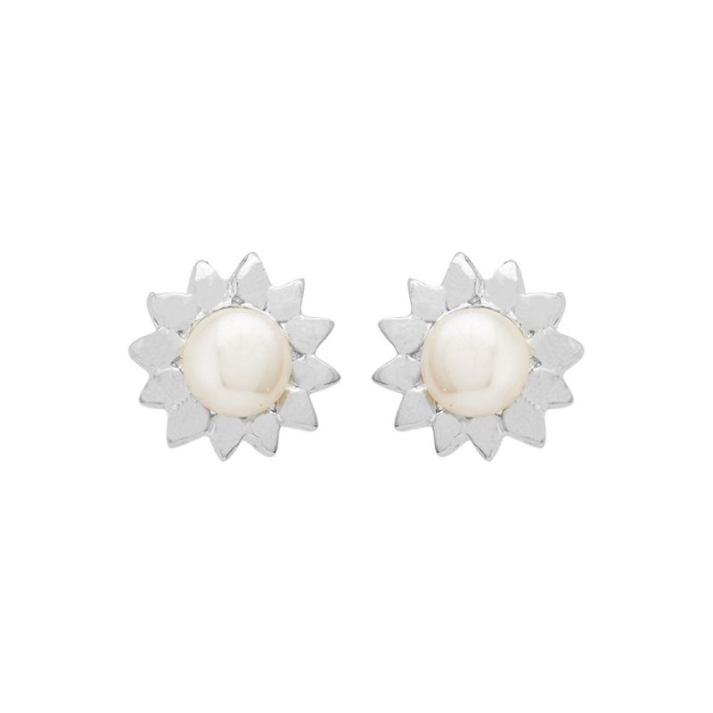 3f1ee1813 Voylla Pearl Embellished Floral Stud Earrings at Nykaa.com